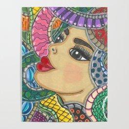 Colorful Medusa Poster