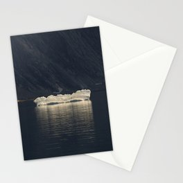 Bright ice in dark place Stationery Cards