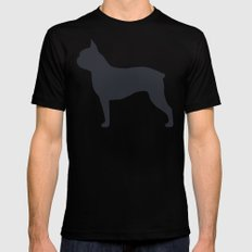 boston terrier silhouette MEDIUM Mens Fitted Tee Black
