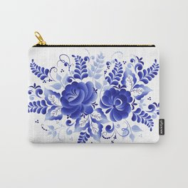Blue flowers art Carry-All Pouch