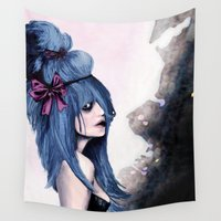 lolita Wall Tapestries featuring Harajuku style by Rouble Rust