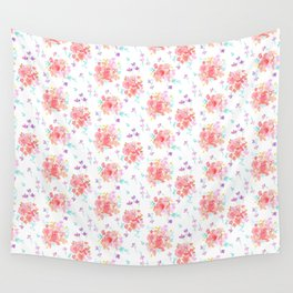 Rosey Posey Watercolor Wall Tapestry