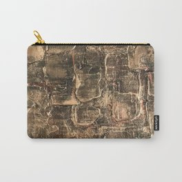 Textured Bronze Gold Metal Painting on Canvas Carry-All Pouch