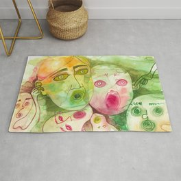 The Colored Screamers Rug