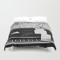 piano Duvet Covers featuring Piano  by Rachel von Hahn