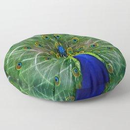 Peacock dreamcatcher Floor Pillow
