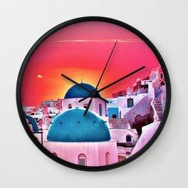 Blue Dooms Wall Clock