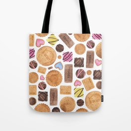 Selection of Sweets, Candy, Cakes and Biscuits Tote Bag