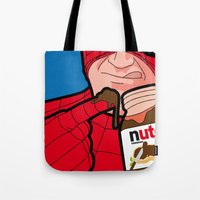 secret life Tote Bags featuring secret life by eatpersonality