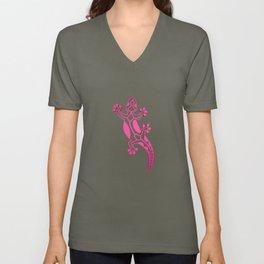 Pink Salamandra Unisex V-Neck