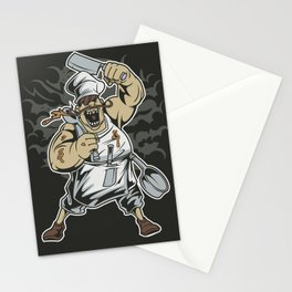 Crazy Chef Cook Stationery Cards