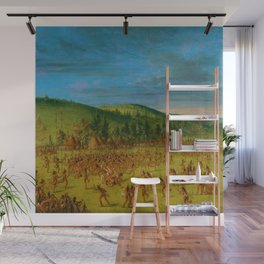 Classical Masterpiece 'Ball play of the Choctaw' by George Catlin Wall Mural