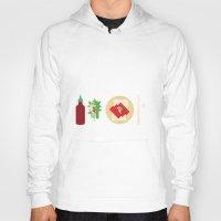 sriracha Hoodies featuring Sriracha Meal by I Ate My Pencil