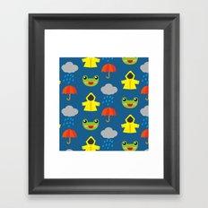 rainy days (Children's pattern) Framed Art Print