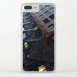 Chicago Endless Fire Escape Clear iPhone Case
