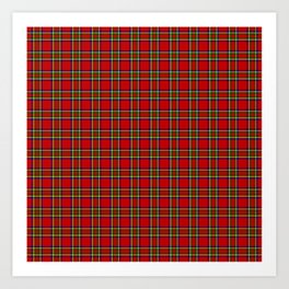 Tartan Classic Style Red and Green Plaid Art Print