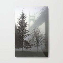 St. Johns Bridge in the fog Metal Print