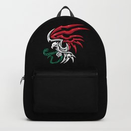 Mexico Flag - Mexican Coat of Arms Tribal Style Backpack