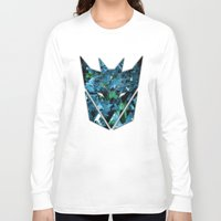 transformers Long Sleeve T-shirts featuring Decepticons Abstractness - Transformers by DesignLawrence