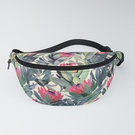 Painted Protea Pattern Fanny Pack