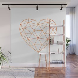 COPPER HEART (WHITE) Wall Mural