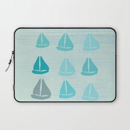Funny Sailboat Race Laptop Sleeve