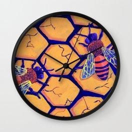 Drought Bees Wall Clock