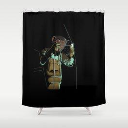 Welder Funny Mongkey Happy Shower Curtain