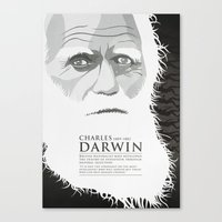 darwin Canvas Prints featuring Darwin by James Northcote