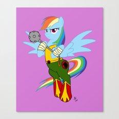 Rainbow Hawk Dash Canvas Print