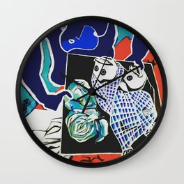 Indigo Kiss Wall Clock