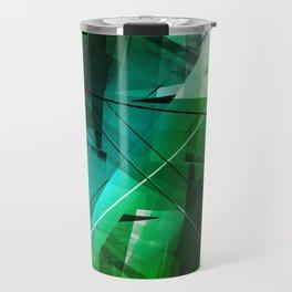 Jungle - Geometric Abstract Art Travel Mug