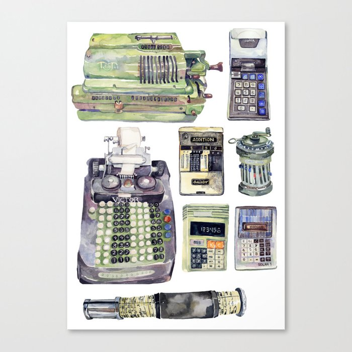 Counting Machines Canvas Print
