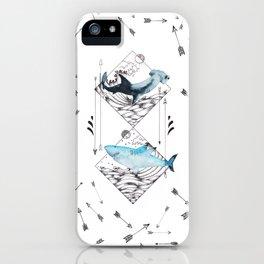 sharks & arrows iPhone Case