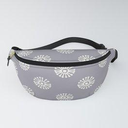 'pinwheel pattern' - cool grey Fanny Pack