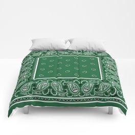 Classic Green Bandana Comforters