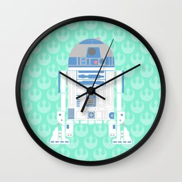 R2-D2 on Mint Rebellion Wall Clock