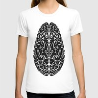 brain T-shirts featuring Brain by FractalFox