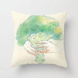 Broccoli bouquet Throw Pillow