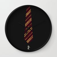 gryffindor Wall Clocks featuring Gryffindor by Zach Terrell