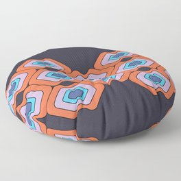 Abstract water lilies #551 Floor Pillow
