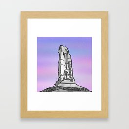 Castle Rock Castleton Tower Framed Art Print