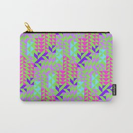 Geometrical pink lilac teal green abstract triangles Carry-All Pouch