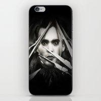 edward scissorhands iPhone & iPod Skins featuring Edward Scissorhands by Whitney Wilkinson