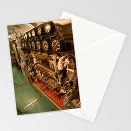 The USS Batfish SS-310 - In the Pump Room, below the Conning Tower Stationery Cards
