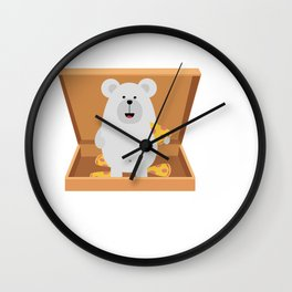 Polar Bear in Wall Clock
