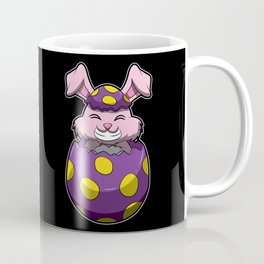 Easter Bunny Pops Out Of A Painted Egg Coffee Mug