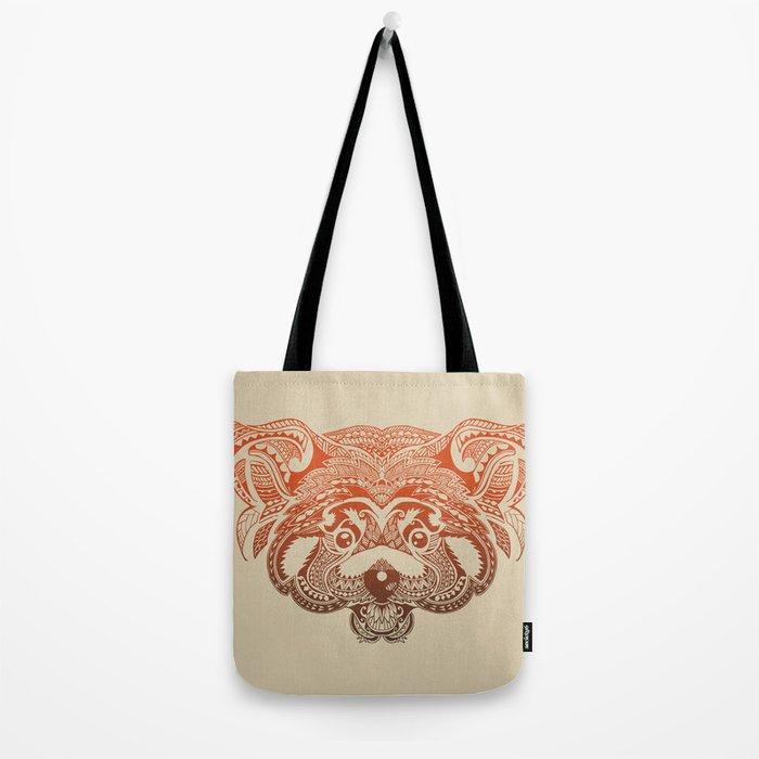 Polynesian Red Panda Tote Bag