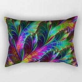Rainbow Leaves Rectangular Pillow