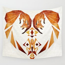 foxes heart  Wall Tapestry